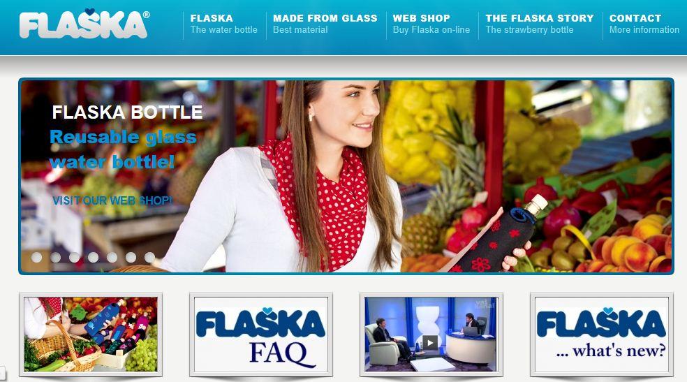 Flaska Web page